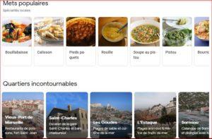 Référencement local Marseille et promotion de l'activité marchande en 2020 quartiers et mets culinaires