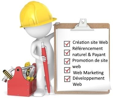 Des Images pour définir les services et l'équipe des 3 Freelances qui travaillent a ce Projet d'agence