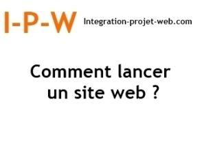 Comment lancer un site Web