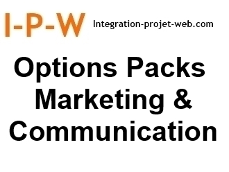 Options aux Packs Marketing & Communication par I-P-W