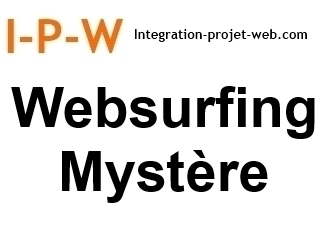 Web surfing Mystère un service Marketing Web