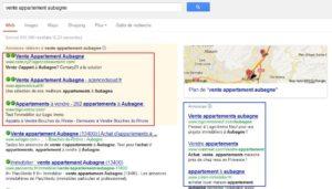 Résultats d'une requête sur Google avec les résultats sponsorisés Google Adwords I-P-W agence web Marseille Aix en télétravail partout en France