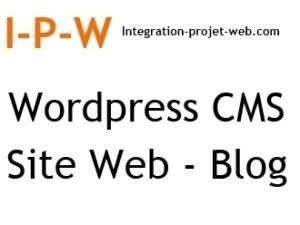 Wordpress référencement CMS site web et Blog I-P-W agence web Référencement, Création, Promotion de site Web en télétravail partout en France