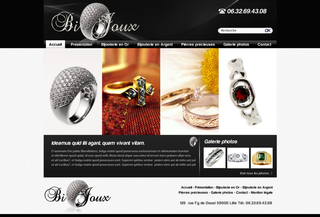 Création de Site Web Bijouterie Orfèvrerie Graphisme et site I-P-W agence Web Marseille Aix télétravail partout en France