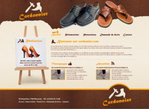 Graphisme et site web cordonnerie cordonnier chausseur vendeur de chaussures I-P-W agence web Marseille Aix en Provence en télétravail partout en France