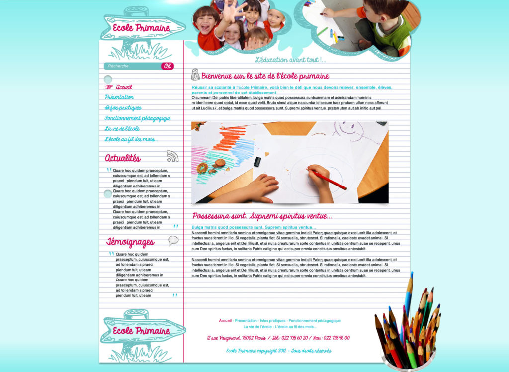 Création de Site Web École établissement scolaire graphisme et site Agence Web I-P-W Marseille Aix en télétravail partout en France