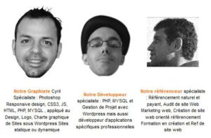 L'équipe I-P-W développeur graphiste referenceur