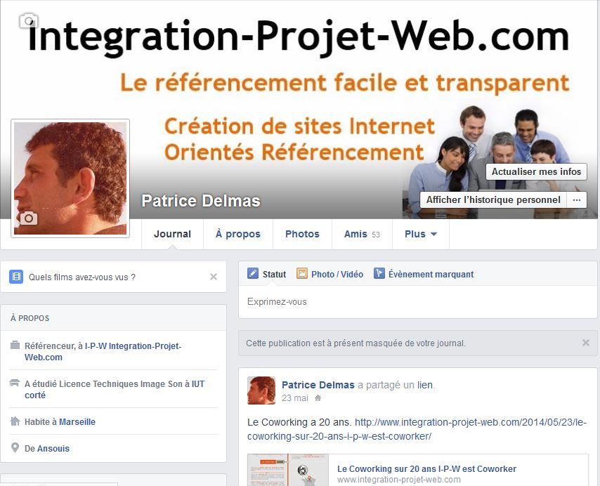 Exemple de Compte FaceBook I-P-W Agence référencement et création Web à Marseille Aix en Provence en télétravail partout en France