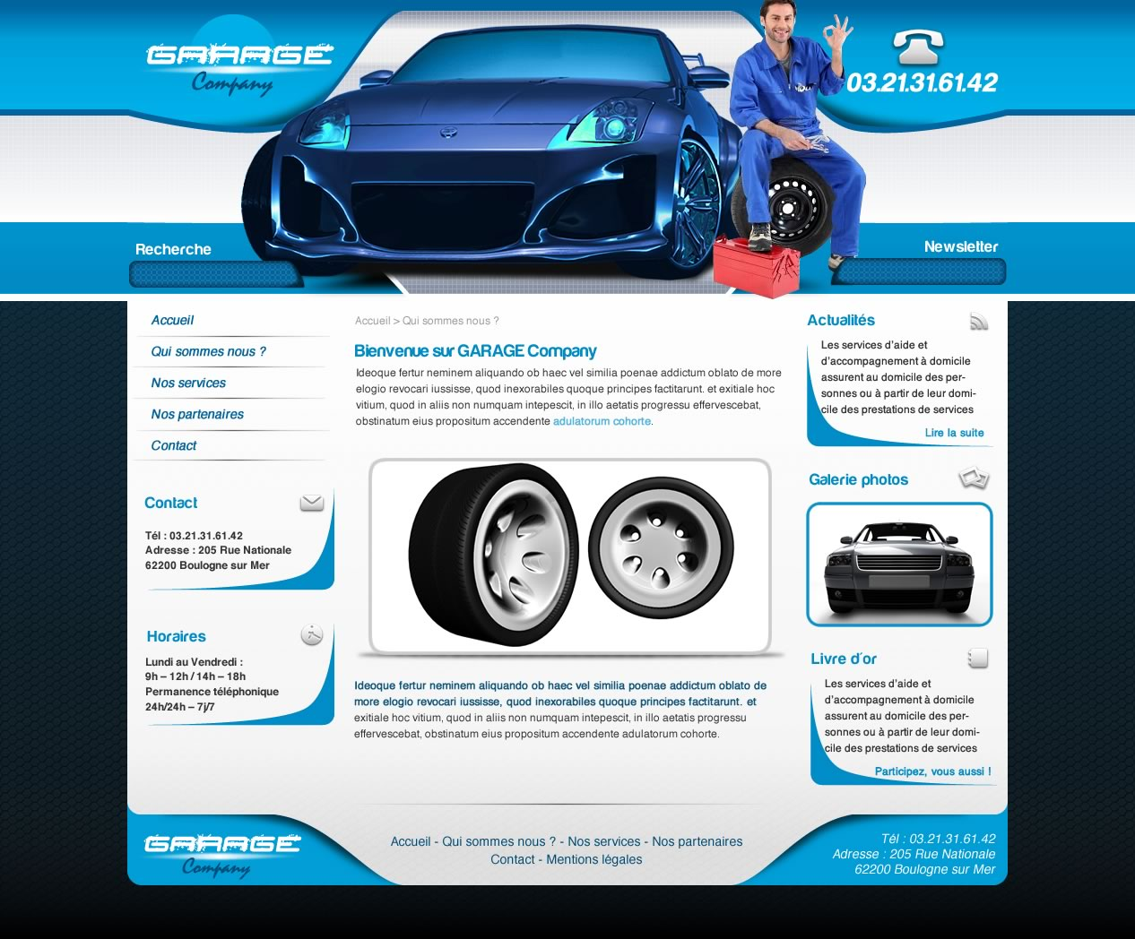 Cr ation de site web garage auto automobile i p w agence for Garage auto france