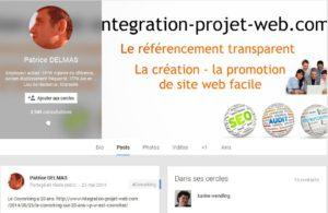 Exemple de compte Google+ I-P-W I-P-W Agence référencement et création Web à Marseille Aix en Provence en télétravail partout en France