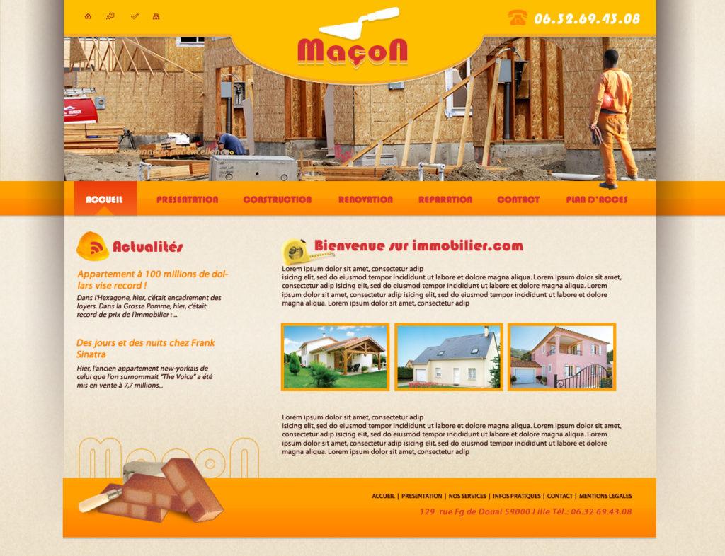 Création de Site Web maçonnerie maçon graphisme et site I-P-W agence Web Marseille Aix télétravail partout en France