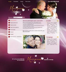 Graphisme et site web mariage et autour de la mariée I-P-W agence web Marseille Aix en Provence en télétravail partout en France