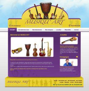 Graphisme et site web musique et instruments de musiques I-P-W agence web Marseille Aix en Provence en télétravail partout en France