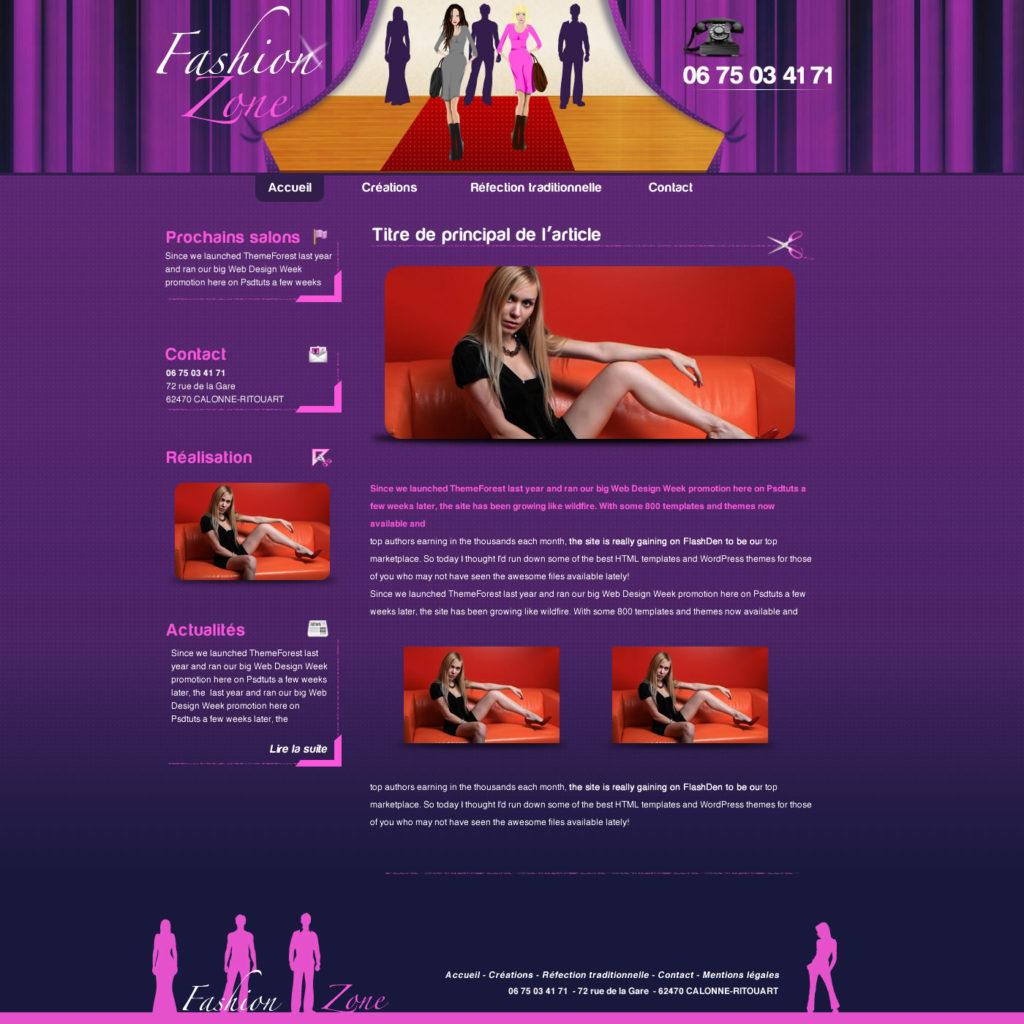 Création de Site Web Styliste Stylisme Mode Décoration Graphisme et site I-P-W agence Web Marseille Aix télétravail partout en France