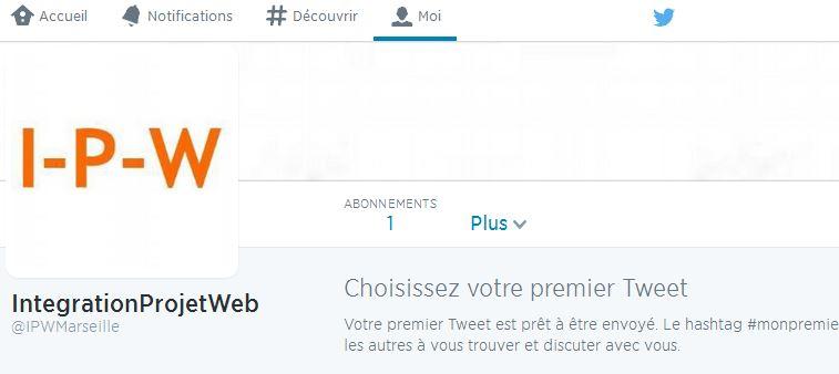 Exemple de compte Twitter I-P-W I-P-W Agence référencement et création Web à Marseille Aix en Provence en télétravail partout en France