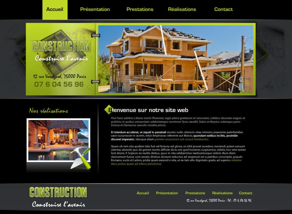 Création de Site web Architecture Bâtiment graphisme et site I-P-W agence Web Marseille Aix en télétravail partout en France