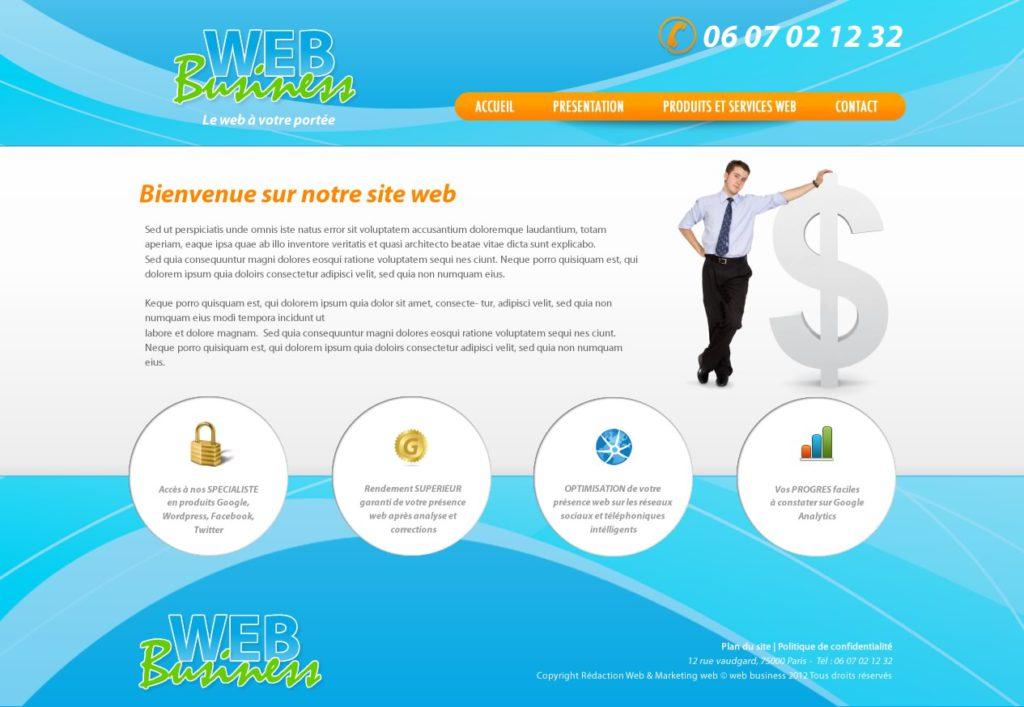 Création de Site Web Business Affaire Graphisme et site I-P-W agence Web Marseille Aix télétravail partout en France