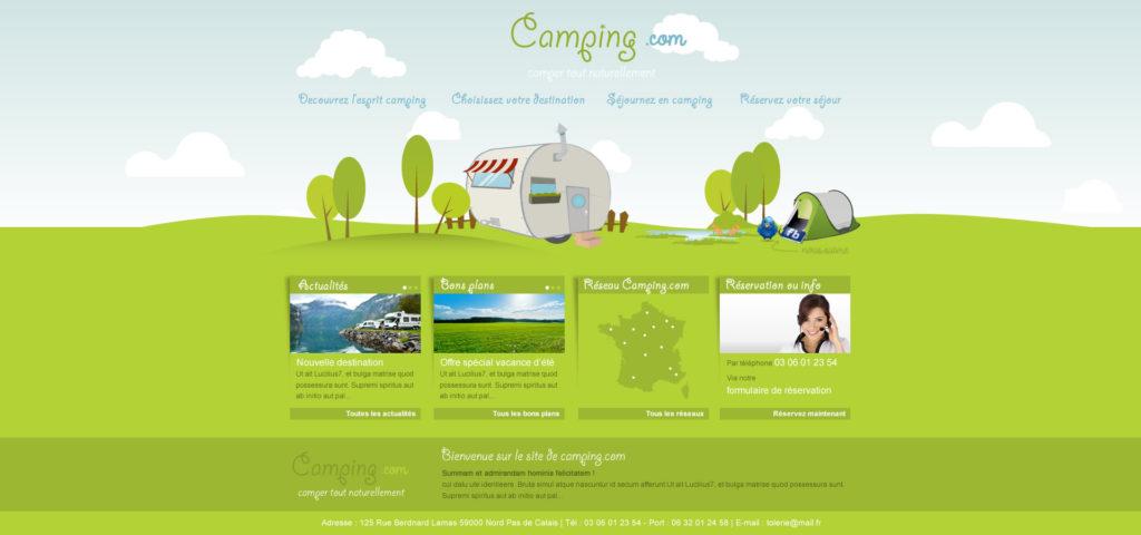 Création de Site Web Camping Caravaning Graphisme et site I-P-W agence Web Marseille Aix télétravail partout en France