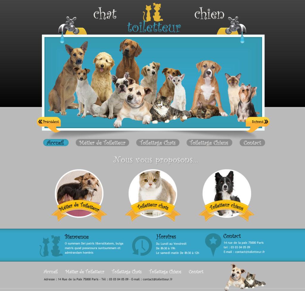 Création de Site web Animaux Animalerie graphisme et site I-P-W agence Web Marseille Aix télétravail partout en France