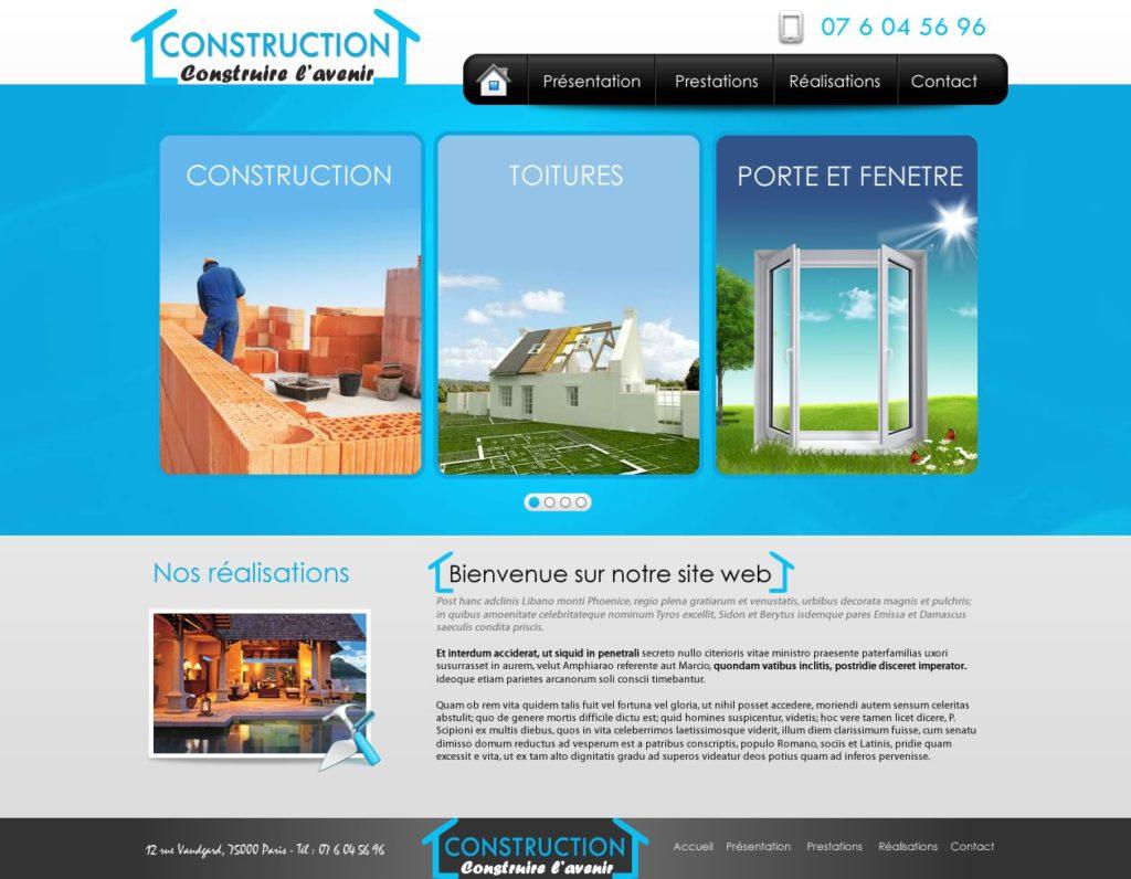 Création de Site Web Construction Bâtiment Graphisme et site I-P-W agence Web Marseille Aix télétravail partout en France