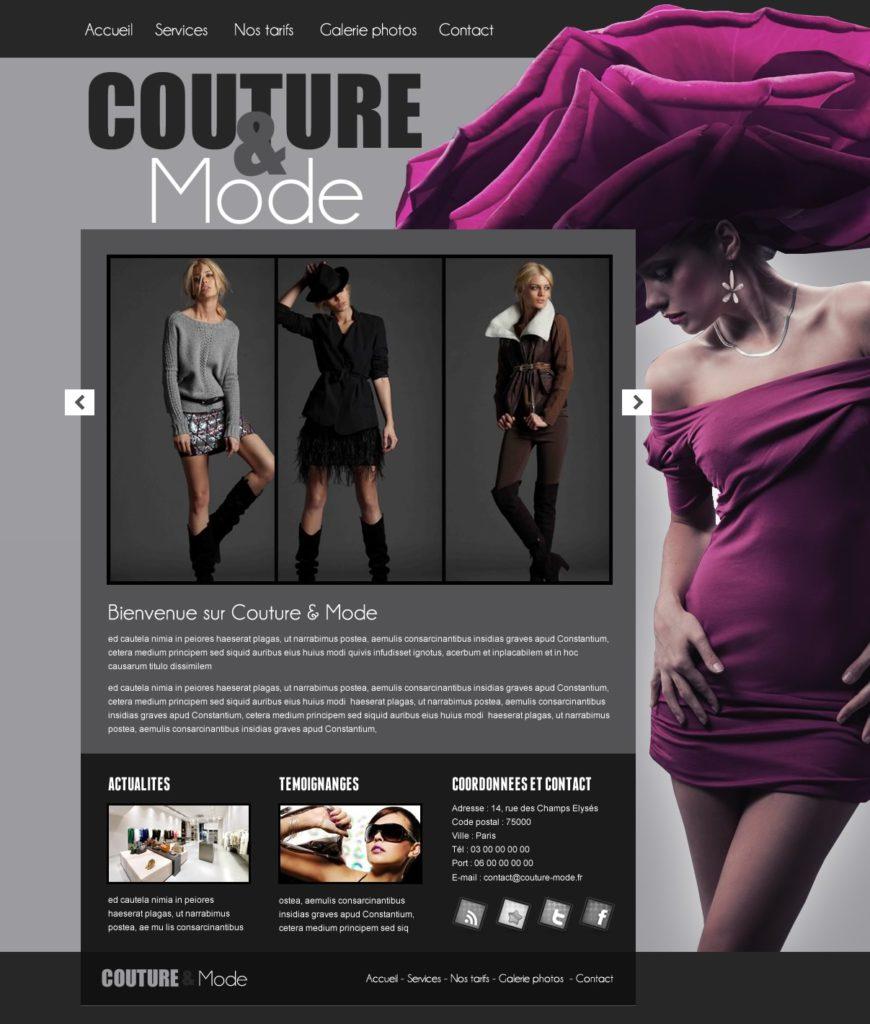 Création de Site Web Couture Couturière Graphisme et site I-P-W agence Web Marseille Aix télétravail partout en France