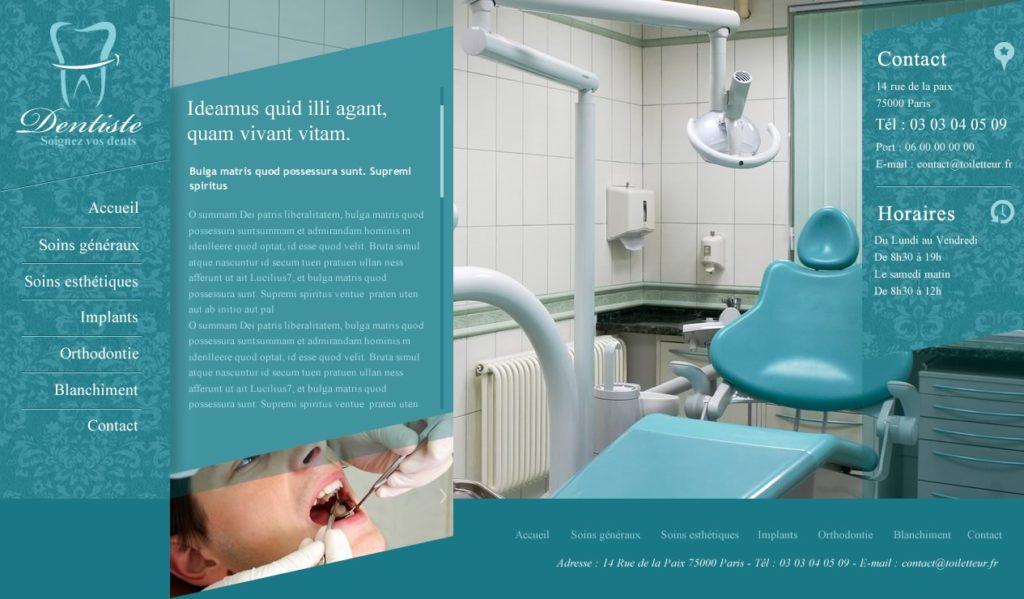 Création de Site Web Dentiste Cabinet dentaire graphisme et site Agence Web I-P-W Marseille Aix en télétravail partout en France