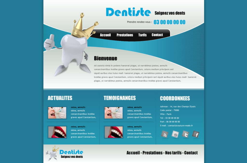 cr ation de site web dentiste cabinet dentaire i p w marseille aix. Black Bedroom Furniture Sets. Home Design Ideas