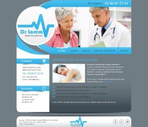 Création de Site Web Docteur Médecin graphisme et site Agence Web I-P-W Marseille Aix en télétravail partout en France