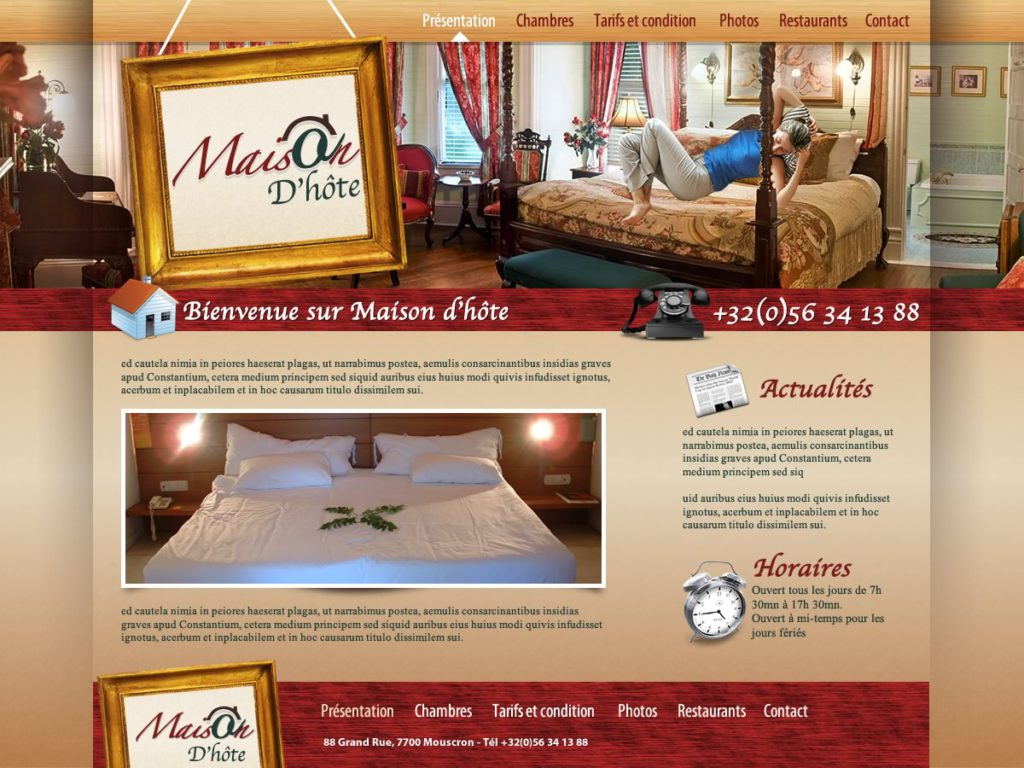 Création de site web Maison d'hôtes et Chambres d'hôtes graphisme et site Web I-P-W agence Web Marseille Aix