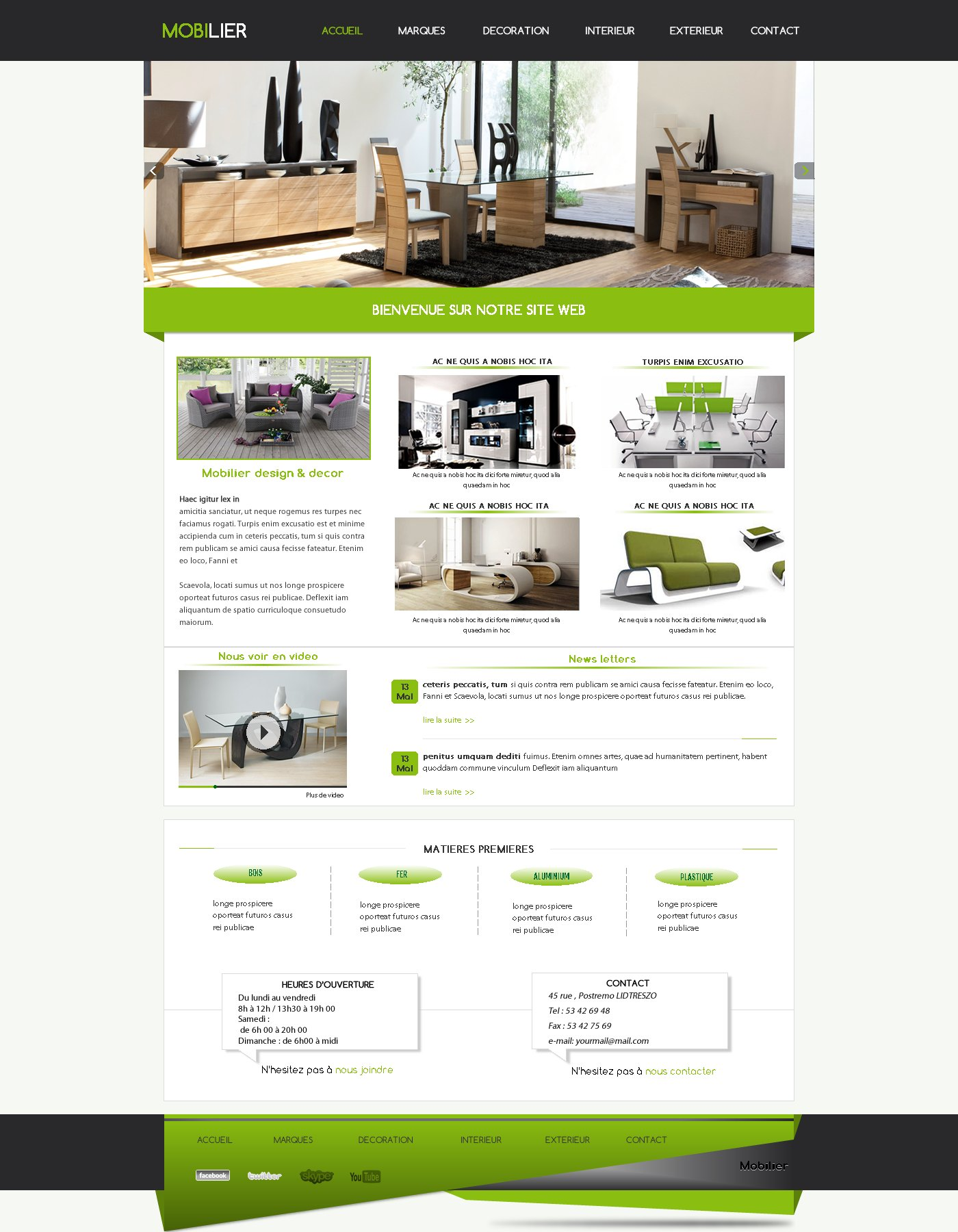 Cr ation de site web meuble mobilier i p w agence web for Site meuble