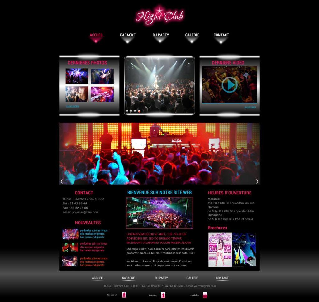 Création de Site Web Night Club Boite de Nuit Graphisme et site I-P-W agence Web Marseille Aix télétravail partout en France