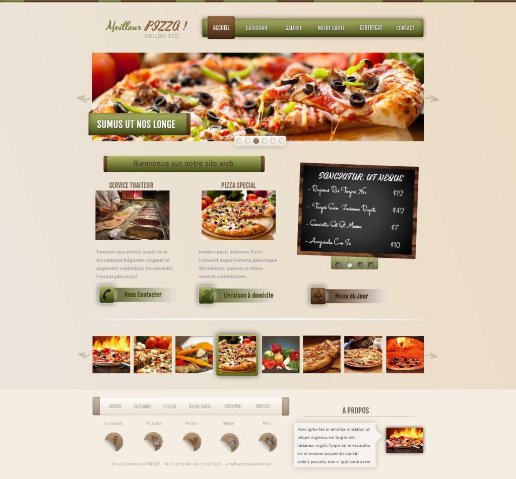 Création de Site Web Pizzeria Fast Food Graphisme et site I-P-W agence Web Marseille Aix télétravail partout en France