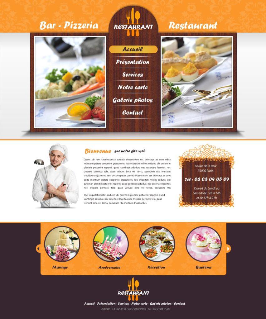 Création de Site Web Restaurant Restauration Graphisme et site I-P-W agence Web Marseille Aix télétravail partout en France