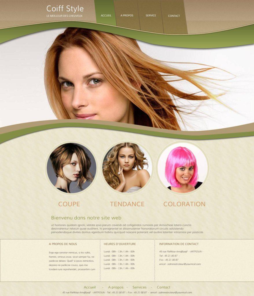 Création de Site Web Salon de beauté Esthétique Graphisme et site I-P-W agence Web Marseille Aix télétravail partout en France