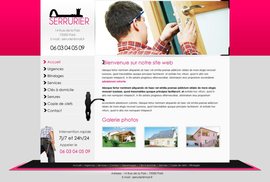 Création de Site Web Serrurier Serrurerie Graphisme et site I-P-W agence Web Marseille Aix télétravail partout en France