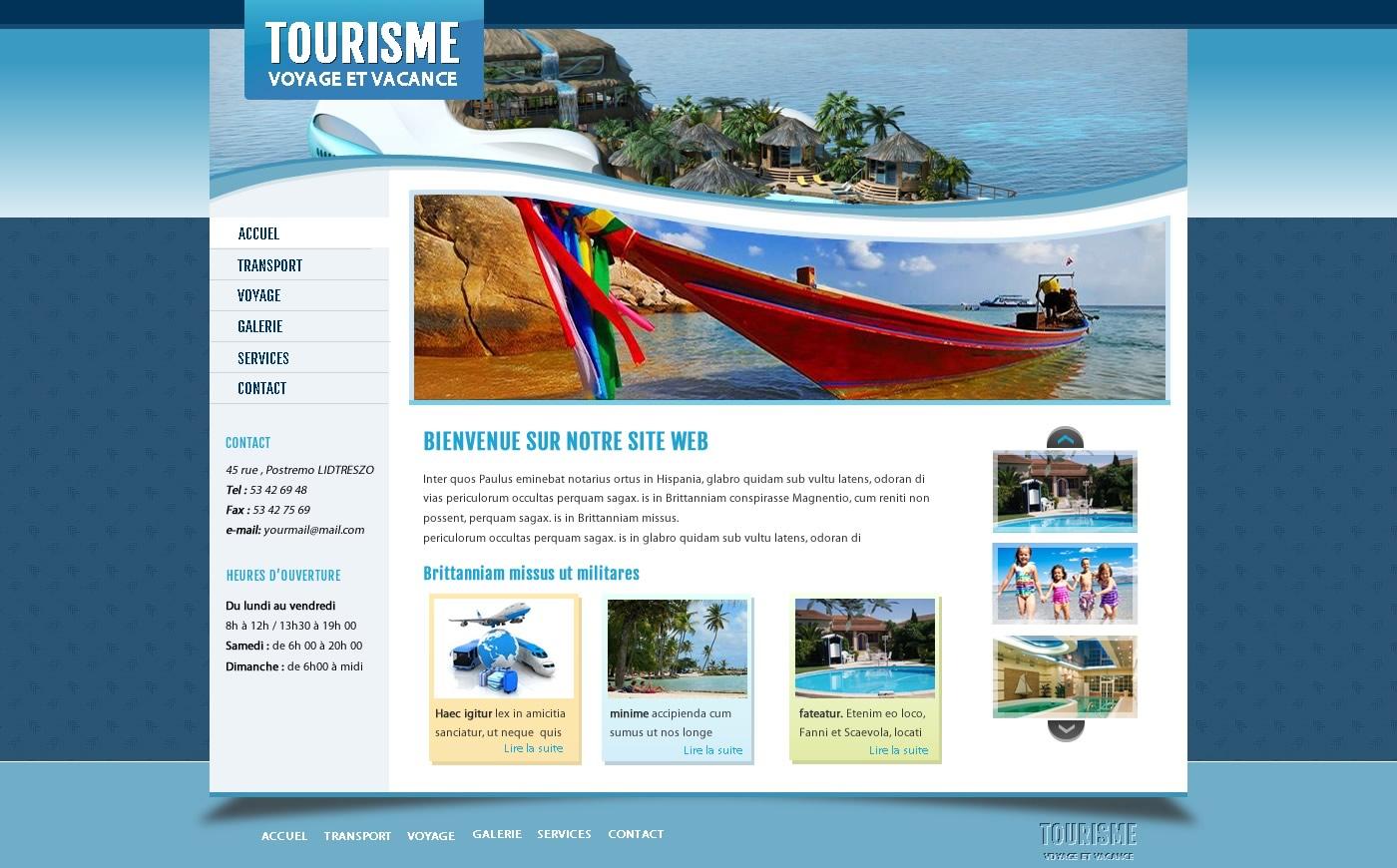 site web agence de voyage