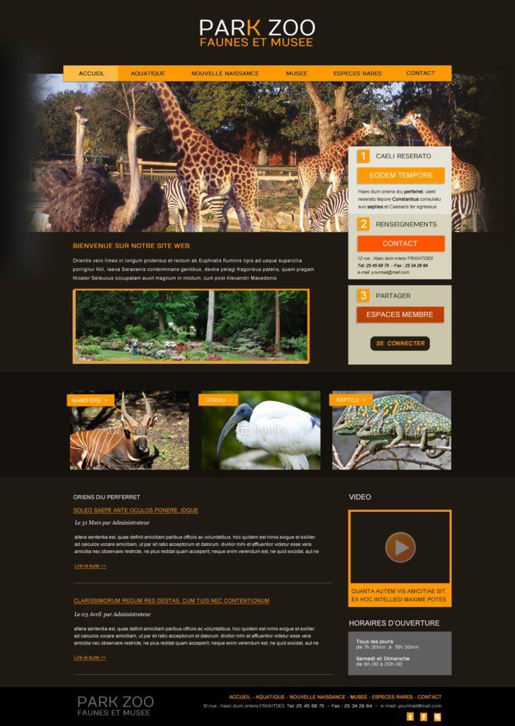 Création de Site Web Zoo Parc Animalier Graphisme et site I-P-W agence Web Marseille Aix télétravail partout en France