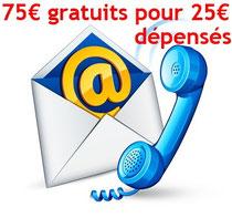 Campagne Google Adwords 75 € pour 25 € référencement payant