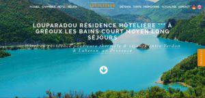 Résidence Hôtelière Louparadou Gréoux Les Bains I-P-W créateur de site web Marseille en télétravail partout en France