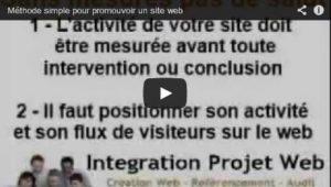Vidéo Une méthode simple pour promotionner son site-web I-P-W agence web en télétravail partout en France