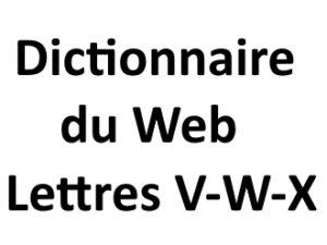 Dictionnaire du web Lettres V W X L'agence Web I-P-W Marseille Aix en Provence en Télétravail partout en France