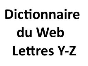 Dictionnaire du web Lettres Y Z L'agence Web I-P-W Marseille Aix en Provence en Télétravail partout en France