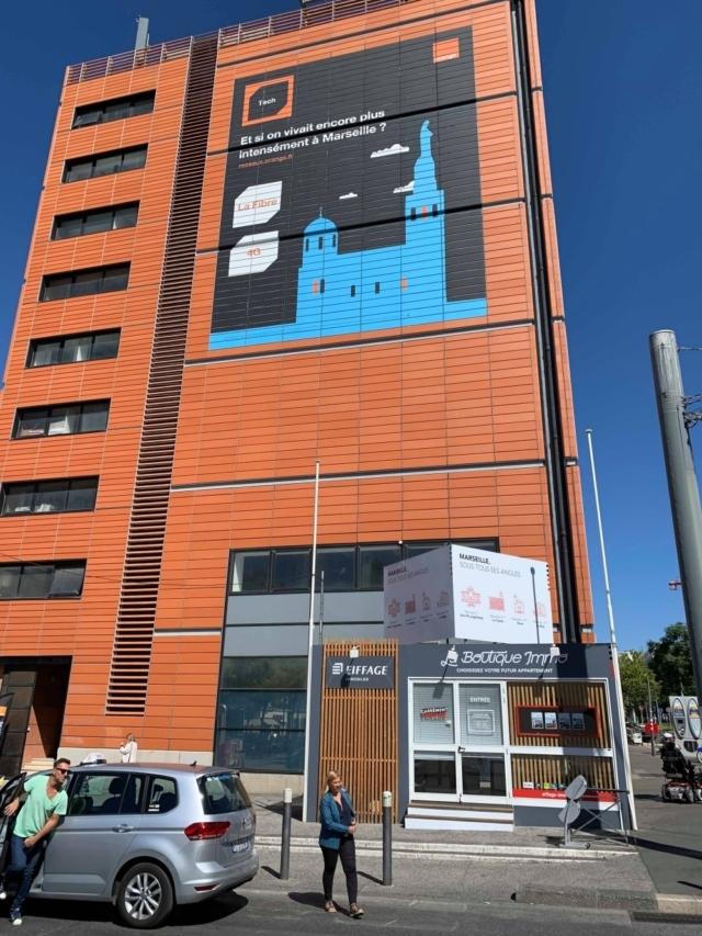Batiment central Orange Télécom a la Joliette Marseille